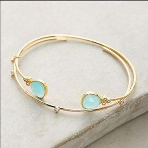 Anthropologie Nicola Mint 12K cuff bracelet